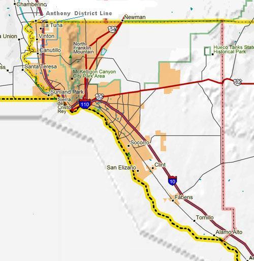 El Paso Texas Street Map – interior City Map Of El Paso Texas on